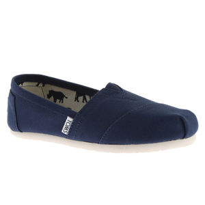 Solid navy TOMS, women's size 7.5 GUC